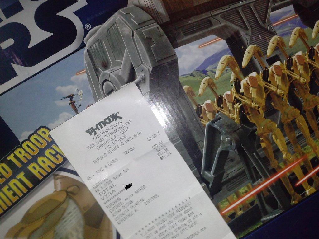 Star wars mtt at tj maxx galactic hunter for Pa fishing license cost walmart